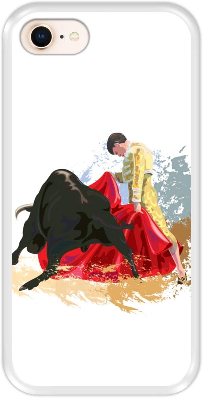 Hapdey Funda Transparente para [ iPhone 7-8 ] diseño [ Lucha de toros, España ] Carcasa Silicona Flexible TPU: Amazon.es: Electrónica