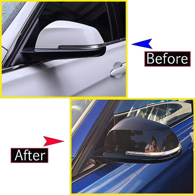 Cache de r/étroviseur lat/éral en fibre de carbone ABS pour s/érie 3 4 GT F30 F31 F32 F33 F34 F36 2013-2018 Accessoires auto