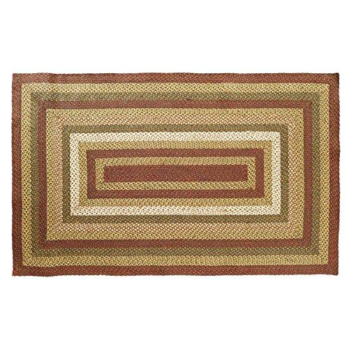 Cheap VHC Brands Rustic & Lodge Flooring – Tea Cabin Green Jute Rug, 5′ x 8′