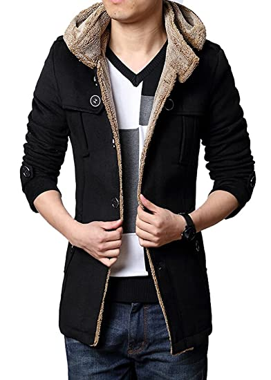 Brinny Hommes Trench Long Manteau Automne Hiver Costume d hiver Coupe-Vent  Veste de Laine Slim Fit Blouson  Amazon.fr  Vêtements et accessoires 1e5a62c0f189