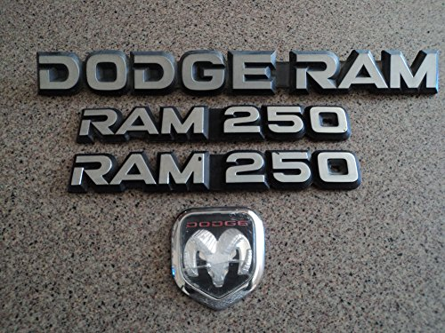 94-97 Dodge Ram 250 Chrome 55034135 Emblem Front Hood Side Fender Badge 85501c A002 Nameplate Set of 4 Logos. Fender 94 95 96 Car