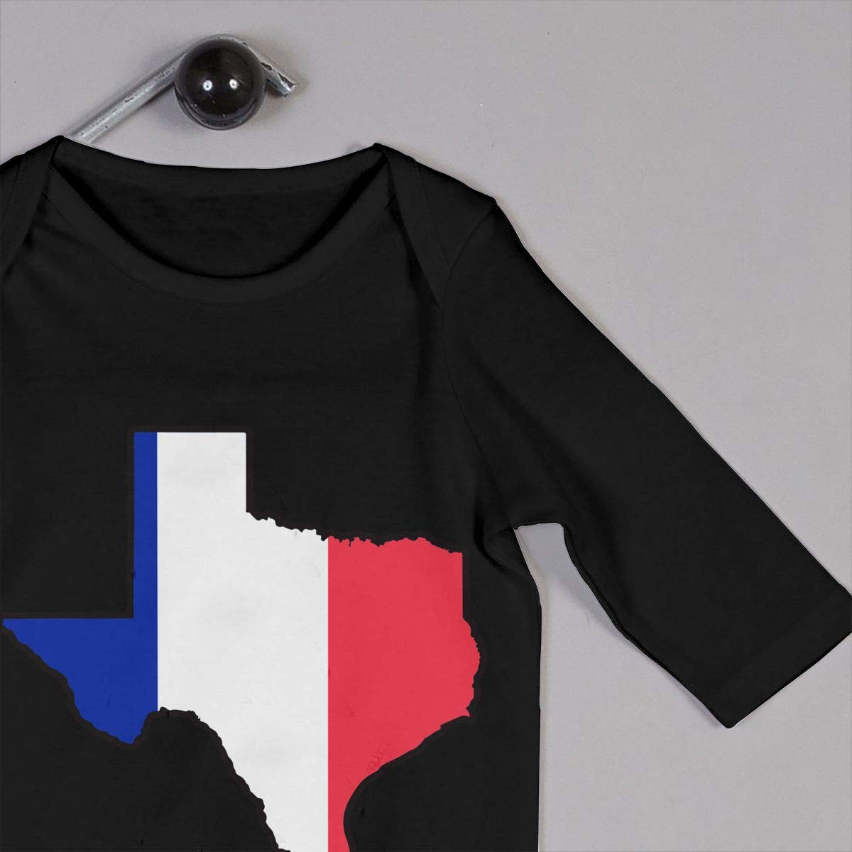 YUE--3BODY France Flag Texas Map Baby Boy Girl Long Sleeve Infant Cotton Bodysuits Onesies