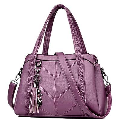 2342910f703c Amazon | ショルダーバッグ レディース ハンドバッグ トートバッグ 2way バッグ 大容量 puレザー 大人 通勤 ビジネス 手提げ 肩掛け  鞄 かばん | バッグ・スーツケース