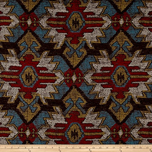 Swavelle/Mill Creek Sentosa Southwest Chenille Jacquard Fabric by The Yard, Chocolate ()