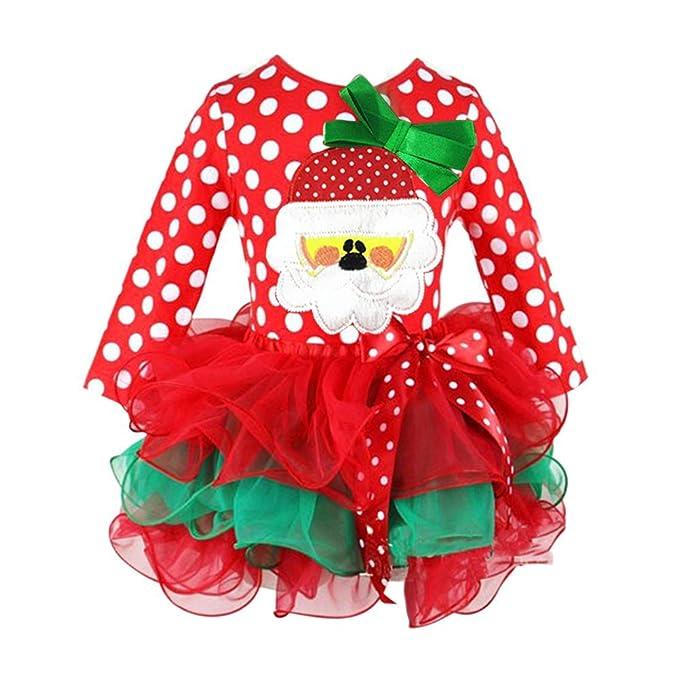 BOBORA Navidad Vestido De Manga Larga Bebe Nina Trajes Nino Princesa Tul  Vestido  Amazon.es  Ropa y accesorios 243851572ec