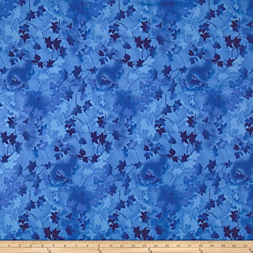 - Fabri-Quilt Ivy Vine 118in Wide Back Leaves Blue Fabric by The Yard,