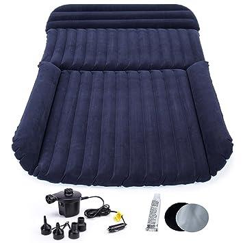 FMS Extra Grueso Coche inflable SUV colchon cama Doble flocado Colchon Coche para Prolongar el asiento trasero viajes al aire libre y camping (SUV colchon): ...