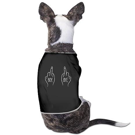 Dos mano dedo medio Boy Bye perro suéteres abrigos impreso alta calidad