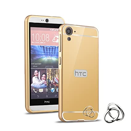 super popular d4282 169d2 AMFIN for HTC Desire 826 Luxury Gold Golden Mirror Aluminium Metal ...
