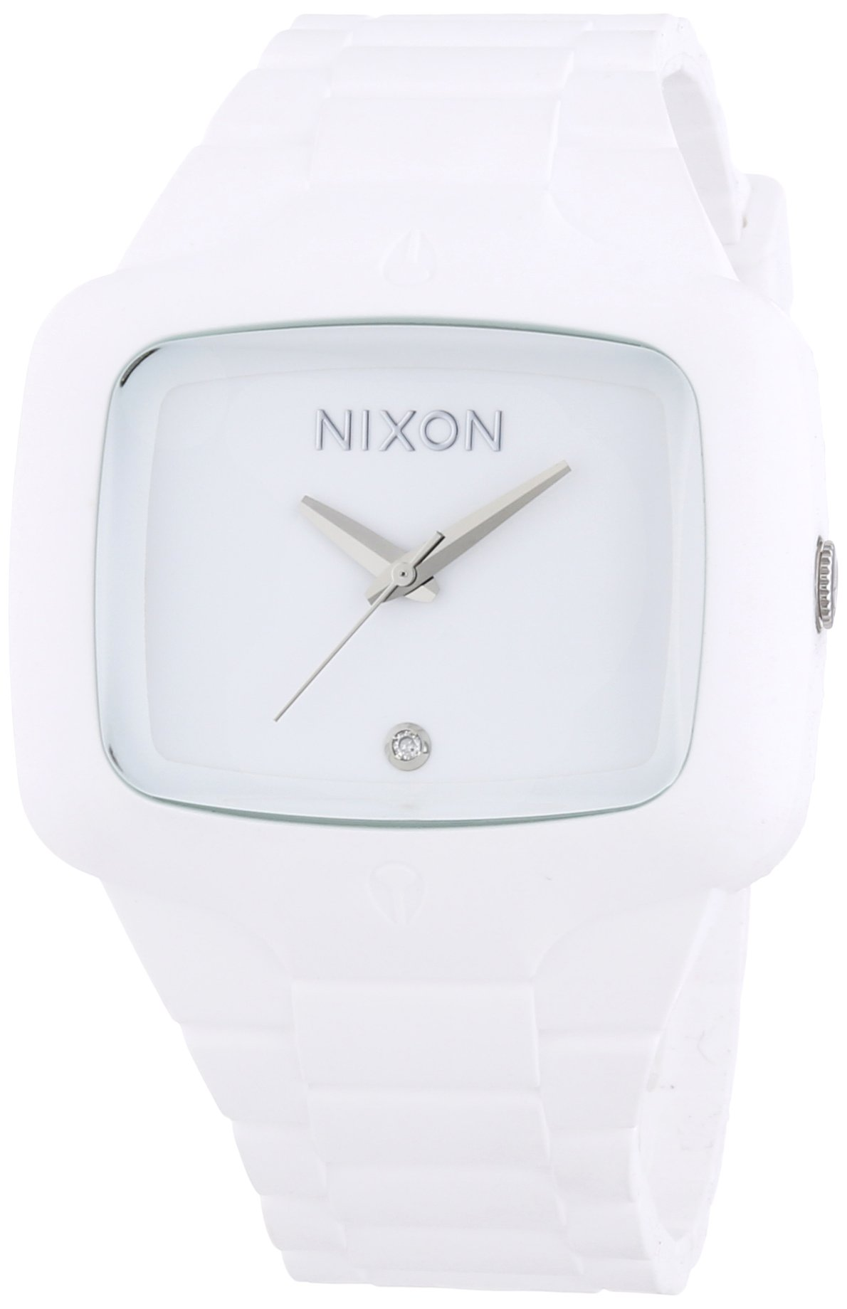 Nixon Men's A139-100 Rubber Analog White Dial Watch