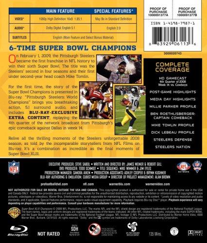 NFL Super Bowl XLIII: Pittsburgh Steelers Champions [Blu-ray] at Steeler Mania