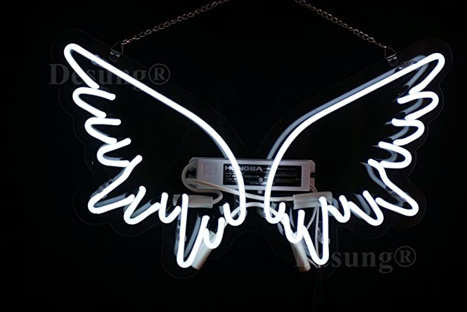 Desung new 17x13 angel wings wall decor art neon sign man cave desung new 17quotx13quot angel wings wall decor art neon sign man cave neon thecheapjerseys Gallery