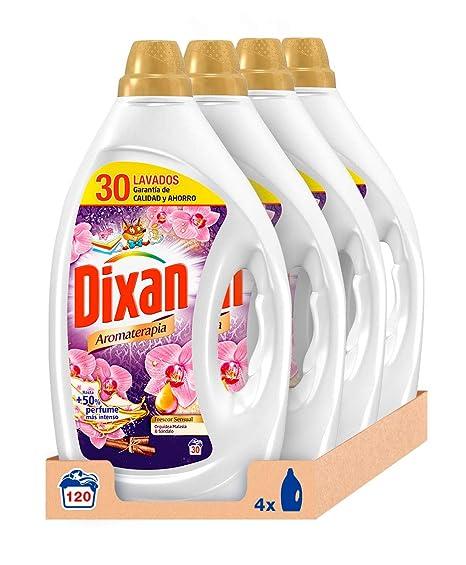 Dixan Detergente Líquido Aromaterapia Frescor Sensual - Pack de 4 - Total 120 Lavados (6 L)