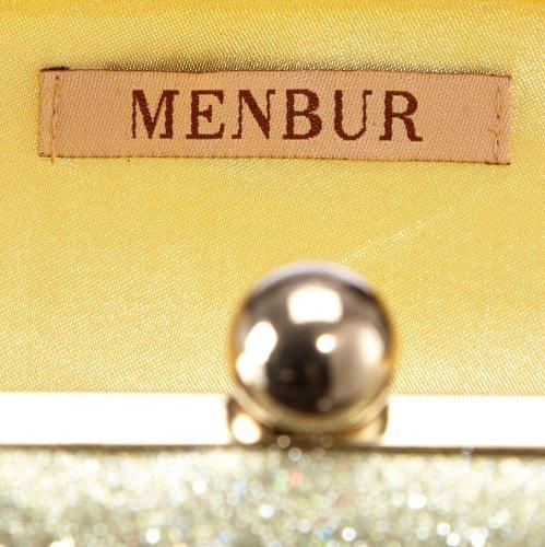 MENBUR Tosca - Bolso de mano mujer dorado - Gold (Gold)