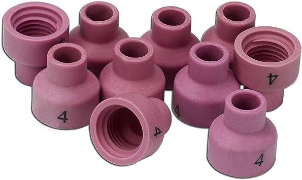 53N23 #3 TIG Alumina Nozzles Ceramic Cups Fit WP-24 TIG Welding Torch 10PK