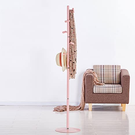 Amazon.com: GJM Shop - Perchero de hierro blanco y rosa con ...