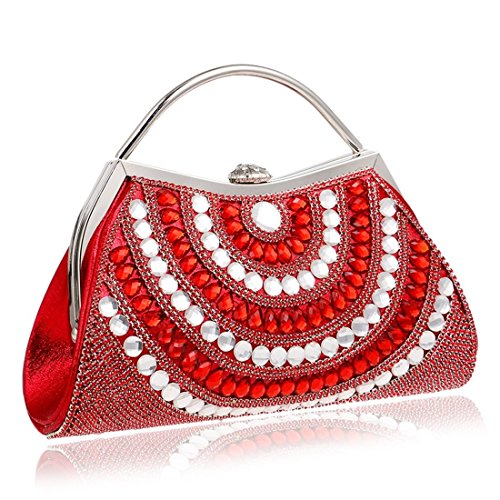 KERVINFENDRIYUN Party Handbag Red Women Dress Clutch Color Evening Bag Diamond Red Female Purse aX76WqwXr
