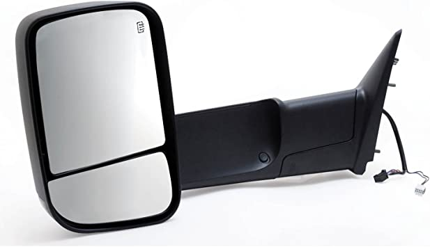 Fit System 60184C Dodge Driver Side Heated Replacement Towing Mirror with Turn Signal and Puddle Lamp