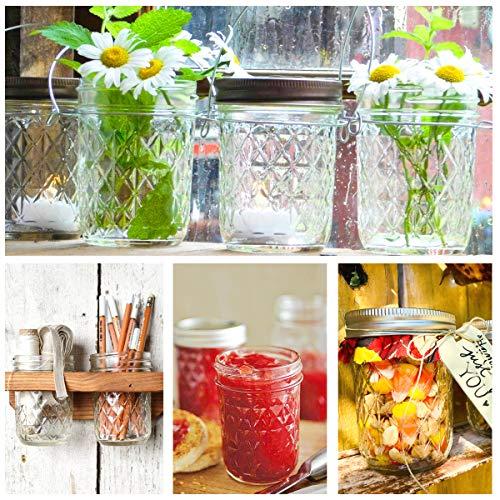 Mason Jars 8OZ, VERONES 8 OZ Canning Jars Jelly Jars With Regular Lids and Bands, Ideal for Jam, Honey, Wedding Favors, Shower Favors, Baby Foods, 30 PACK by VERONES (Image #4)