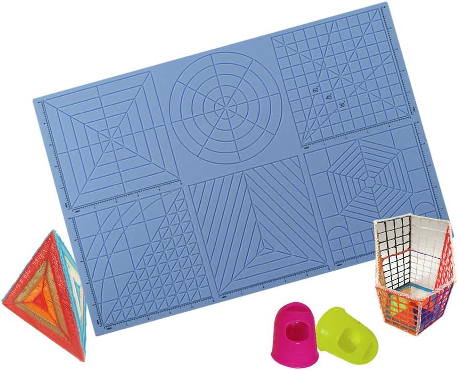 Fesjoy Plantilla de l/ápiz de impresi/ón 3D multiprop/ósito Plantillas de dibujo 3D de silicona suave Tablero de copiado con patrones Libro y huellas de dedos