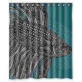 Beta Fish Shower Curtain Epropy Shower Curtain 60