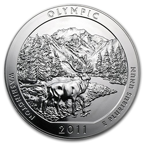 2011 5 oz Silver ATB Olympic National Park, WA Silver Brilliant Uncirculated