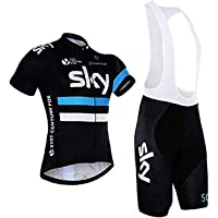 Men's Cycling Suits 2pcs Breathable Cycling Short Sleeve Jersey Cycling Bib Shorts Set for Outdoor Sports