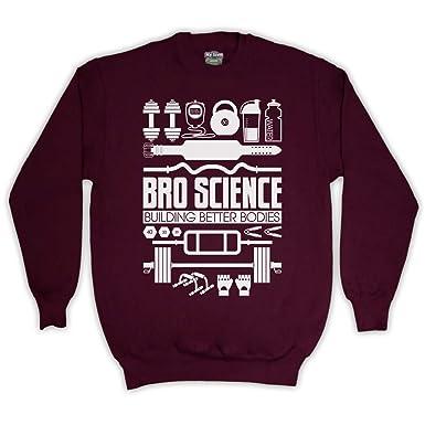 Bro Science Building Better Bodies Adults Sweatshirt Amazon Co Uk