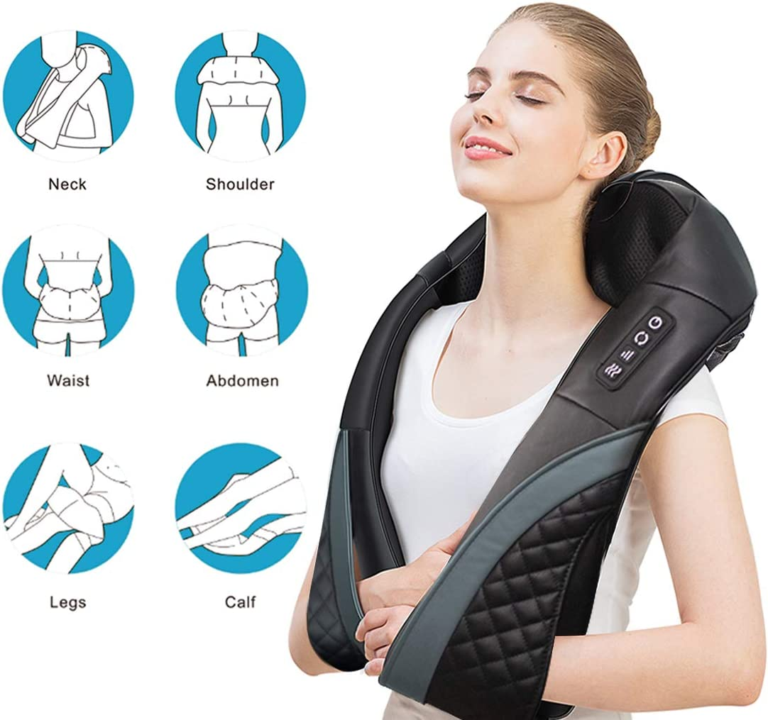 loverbeby Electric Handheld Back Massager, Cordless with High Capacity Rechargeable Battery, Deep Tissue Percussion Massage for Back Shoulder Neck Leg Foot Pain Relief, 4 Intensity and 6 Massage Modes