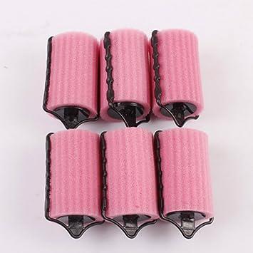 nicebuty 6pcs Popular suave esponja rizador de cabello rodillos cojín estilo herramientas: Amazon.es: Belleza