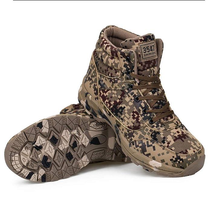 Amazon.com   VonVonCo Leisure Outdoor Men Sneakers Camouflage Style Keep Warm Desert Military Boots   Baseball & Softball
