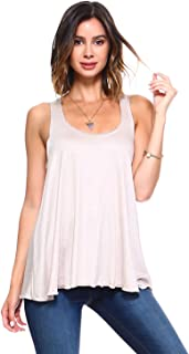 product image for Simplicitie Women's Sleeveless Loose Fit Flowy Workout Racerback Tank Top - Regular and Plus Size - Made in USA