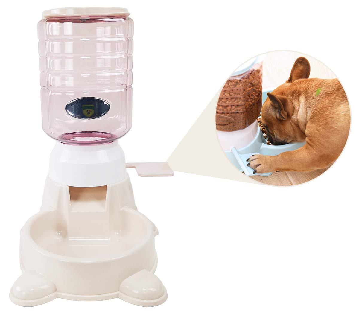 Jmini Pet Feeder 3.8L Press Pedal Self Feeding Dry Food Dispenser for Cat Dog