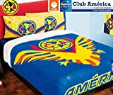 Club America Fuzzy Fleece Blanket 100% Polyester Queen Size and 4Pc Sheet Set