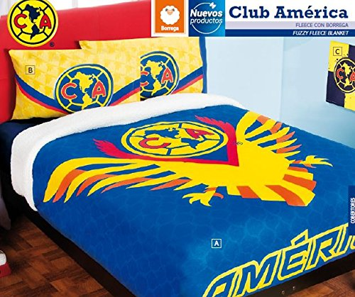 (Club America Fuzzy Fleece Blanket 100% Polyester Queen Size and 4Pc Sheet Set)