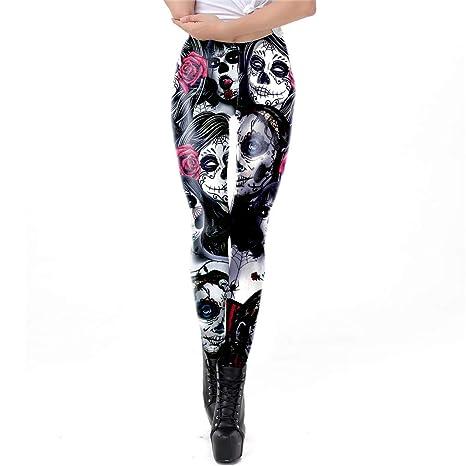 GOLGORDGOD Leggings con Estampado de Halloween Pantalones de ...