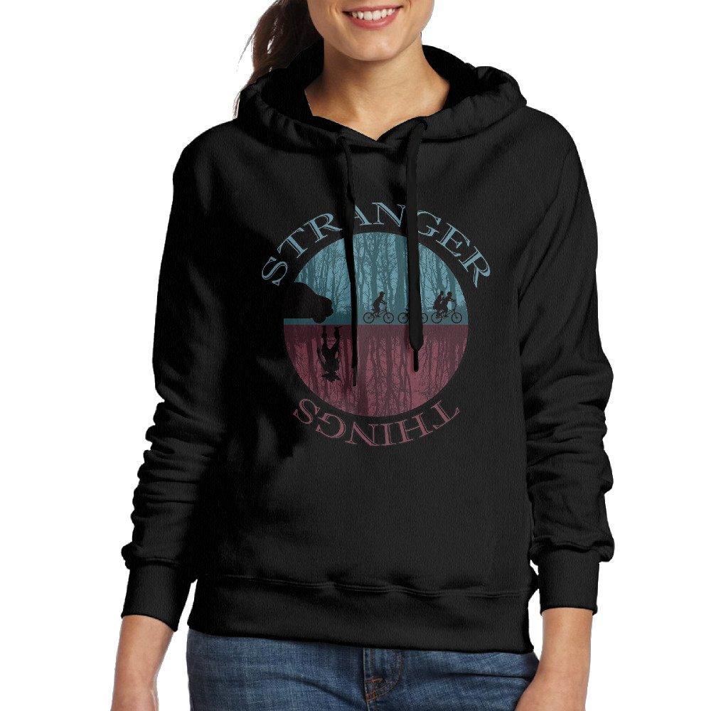 Upside Down Stranger Things Women's Blank Hoodie Sweatshirt Coat