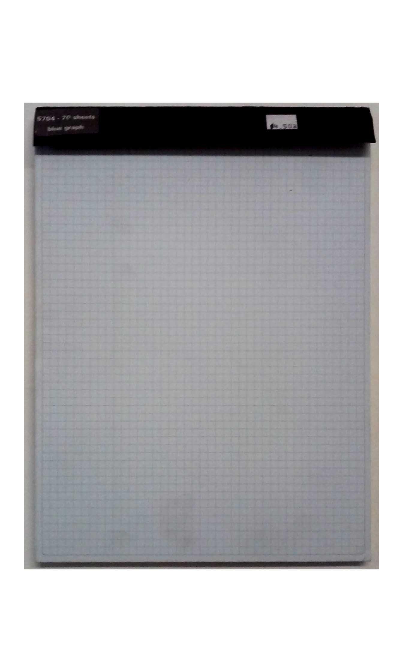 Exacompta Black Book 5704 B34e Graph Pad 70 Sheets 9'' x 11''
