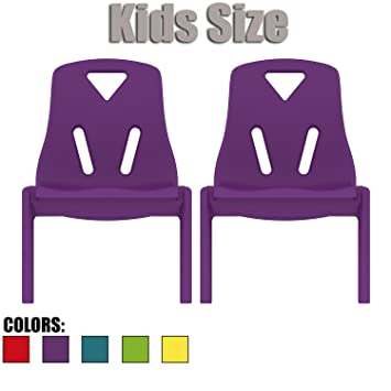 Delicieux 2xhome   Set Of Two (2)   Purple   Kids Size Plastic Side Chair