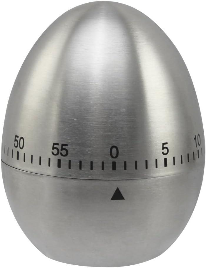 01 Pezzi - Acciaio Inossidabile com-four/® Timer per Uova Classico Come Un Timer Realizzato in Acciaio Inossidabile