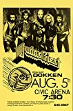 Judas Priest with Dokken at the Civic Arena LIVE 1986 Retro Art Print — Poster Size — Print of Retro Concert Poster — Features Don Dokken, Mick Brown, Jon Levin and Mark Boals.