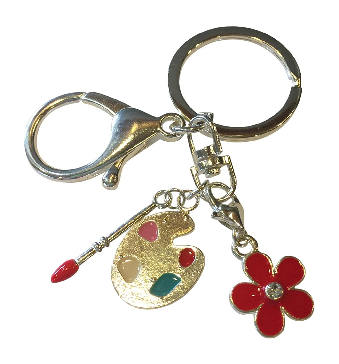 Love to Paint Keychain with Convenient Clip in Gift Bag