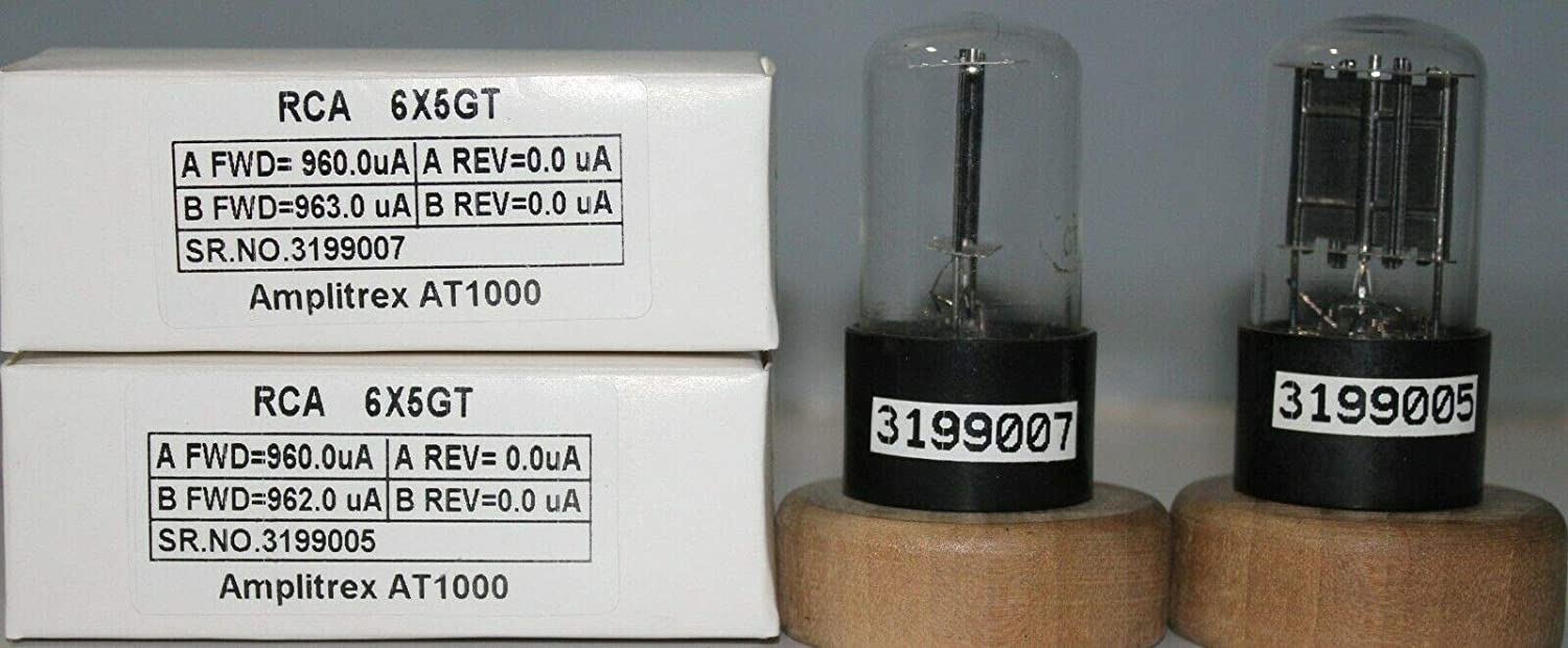1MP 6X5GT RCA NOS D Getter Made in U.S.A Amplitrex Tested#3199007&5