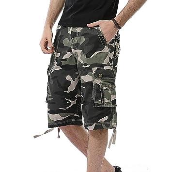 495d77549427 Herren Shorts Hose Xinantime 2018 Trend Camouflage Pocket Beach Work ...