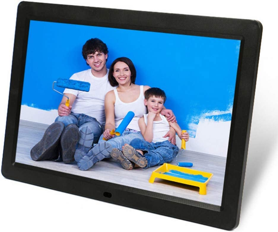Remote Control,Black 1280/×800 Full HD 16:10 Photo//Music//Video Player Calendar Alarm Auto On//Off Timer MUYEY 12 Inch Digital Photo Frame Support USB and SD Card