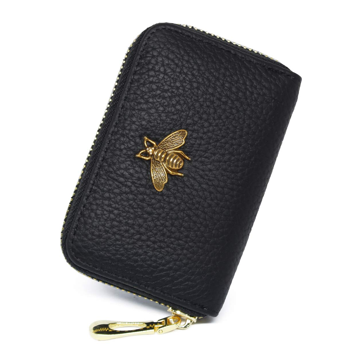 imeetu RFID Credit Card Holder Leather Zipper Card Case Wallet for Women S