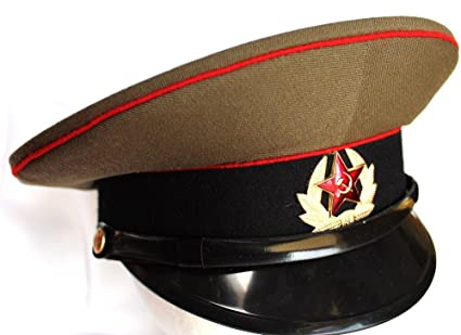665d1842e Amazon.com: Soviet/ USSR Army Military Hat / Cap ORIGINAL + Soviet Red Star  Badge Russian size 55 (US 6-7/8): Sports & Outdoors