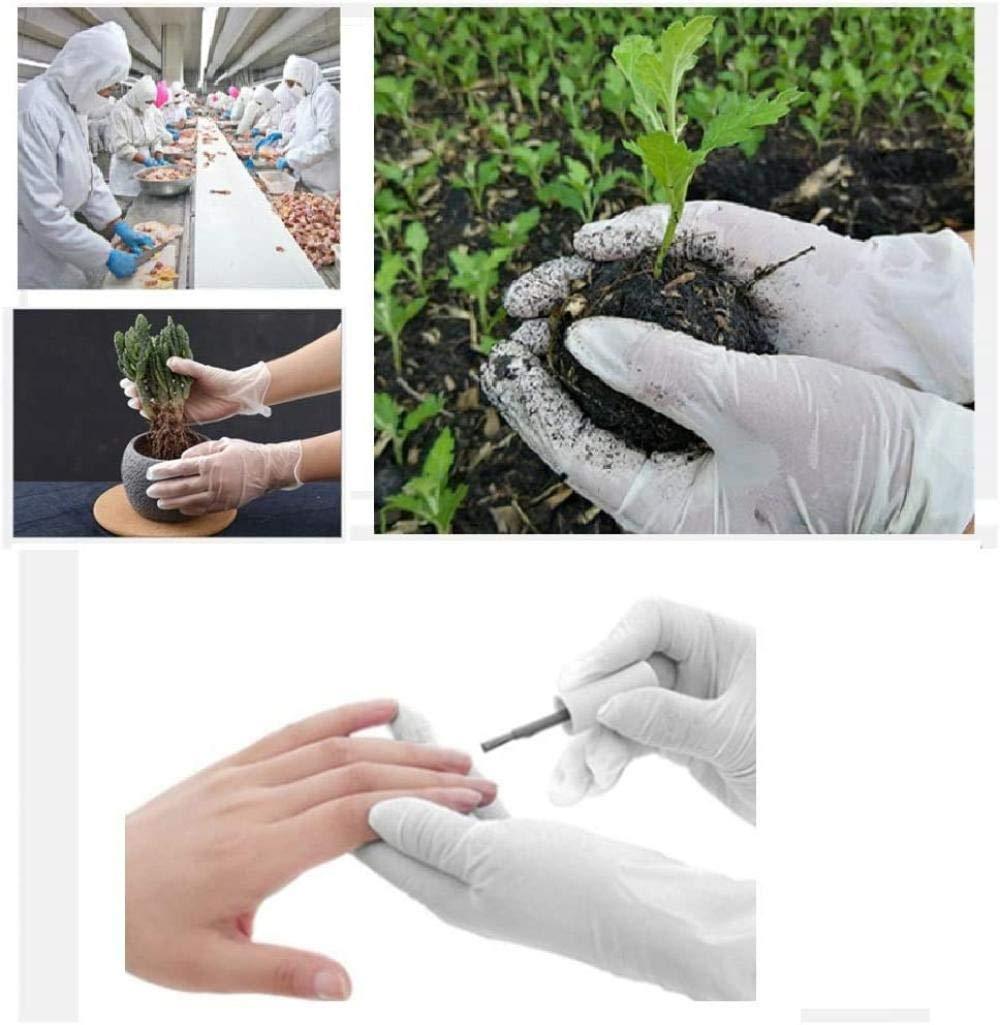 100 guantes desechables de l/átex de nitrilo sin polvo guantes,Ambiental Anti-bacteriana,para limpiar la cocina dom/éstica guantes protectores
