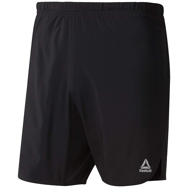 TALLA S. Reebok Re 7 Inch Short Pantalón Corto, Hombre, Negro, S