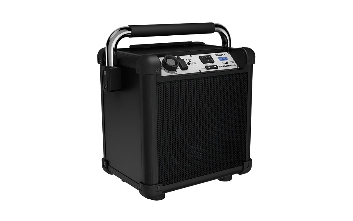 Ion Audio Job Rocker Plus (black) ION Audio Job Rocker Plus | Portable Heavy-Duty Jobsite Bluetooth Speaker System with AM/FM Radio + Mic Input (Black)